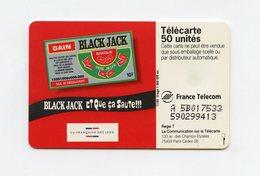 La Française Des Jeux . LE BLACK JACK . Télécarte 50 Unités . - Giochi