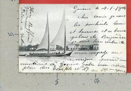 CARTOLINA VG SVIZZERA - GENEVE - Barque Du Leman - 9 X 14 - 1904 - GE Geneva