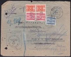 SEGNATASSE - LETTERA ERRANTE >12-10- 1938 ÖSTERREICH WIEN > BERLIN > RITORNO ? PAGGHI ITALIA 17-10-1938 - REICHSTELLE - Portomarken