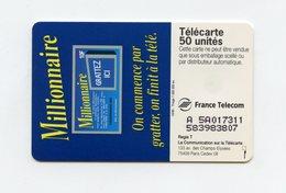 La Française Des Jeux . LE MILLIONNAIRE . Télécarte 50 Unités . - Giochi