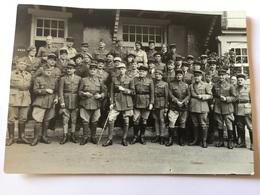 Carte Photo Mission Militaire Franco Polonaise Internée En Suisse Août 1940 - 1939-45