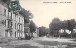 62 - MONTREUIL Sur MER : L'Avenue De La Gare - CPA Village (2.130 Habitants) - Pas De Calais - Montreuil