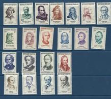 Lot De Timbres Neufs Sur Charnière 1956-1958 (personnages) - Ungebraucht