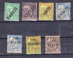 TAHITI Timbres Rares, Cote 425€, Oblitérés 2ème Choix - Tahiti (1882-1915)