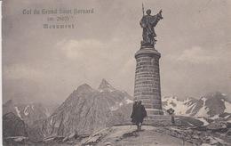 VALLE D'AOSTA - COL DU GRAND SAINT BERNARD M2467 - MONUMENT - VIAGGIATA 1917 - Altre Città