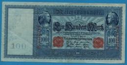 DEUTSCHES REICH 100 Mark  21.04.1910# E.4120419 P# 42  Blueisch Paper - [ 2] 1871-1918 : German Empire