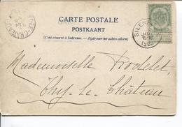 REF856/ TP 53 S/CP Tableau Nativité De Léonard Walcourt-Silenrieux C.Silenrieux 1903 > Thy-le-Château C.d'arrivée 22/1 - 1893-1907 Coat Of Arms