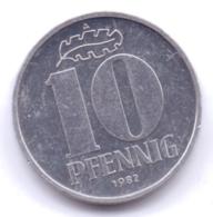 DDR 1982 A: 10 Pfennig, KM 10 - [ 6] 1949-1990 : RDA - Rep. Dem. Alemana