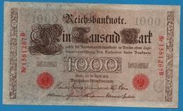 DEUTSCHES REICH 1000 Mark 21.04.1910# 1581267B  P# 44b - [ 2] 1871-1918 : German Empire