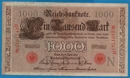 DEUTSCHES REICH 1000 Mark 21.04.1910# 2101743H  P# 44b - [ 2] 1871-1918 : German Empire