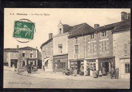 THENEZAY(79 DEUX SEVRES) Voiture à Chiens- La Place De L'église - Thenezay