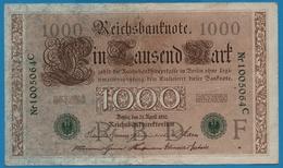 DEUTSCHES REICH 1000 Mark 21.04.1910# 1005064C  P# 45b - [ 2] 1871-1918 : German Empire