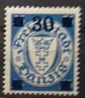 DANTZIG  N° 206 COTE 17 € NEUF * MH 30 Sur 35 P Bleu Ciel. TB - Danzig