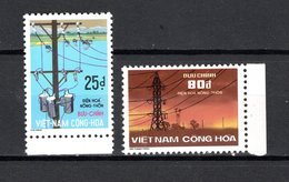 VIETNAM DU SUD   N° 526 + 527   NEUFS SANS CHARNIERE COTE 30.00€    ELECTRICITE - Vietnam