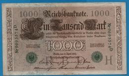 DEUTSCHES REICH 1000 Mark 21.04.1910# 9695574D  P# 45b - [ 2] 1871-1918 : German Empire