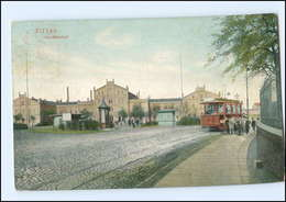 XX004146/ Zittau Hauptbahnhof Straßenbahn 1915 AK - Germany