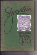 Zumstein Katalog Europa Mit Schweiz 19. Auflage 1936 - Svizzera