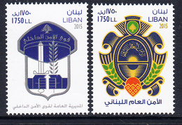 2015 Lebanon Liban Security Forces Police Complete Set Of 2 MNH - Lebanon