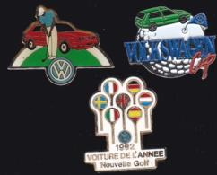 64111-lot De 3 Pin's.Volkswagen.Golf..Automobile. - Volkswagen