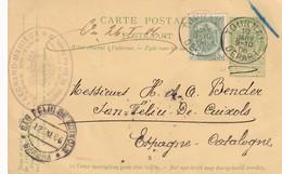 DDW 921  --  Entier Postal Armoiries TOURNAI 1906 Vers Espagne - Cachet Legrand-Mahieux , Vins - Commande De Bouchons - Postcards [1871-09]