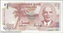 TWN - MALAWI 23b - 1 Kwacha 1.5.1992 Prefix CU UNC - Malawi