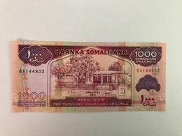 SOMALILAND  -1000 SOMALILAND SHILLINGS  - 2011 - UNC - PICK:20 - Billets