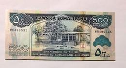 SOMALILAND  -500 SOMALILAND SHILLINGS  - 2011 - UNC - PICK:6h - Billets