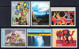 2015 Mongolia Art Paintings Complete Set Of 6 MNH - Mongolei