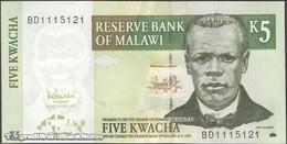 TWN - MALAWI 36c - 5 Kwacha 1.12.2005 Prefix BD UNC - Malawi