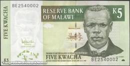 TWN - MALAWI 36c - 5 Kwacha 1.12.2005 Prefix BE UNC - Malawi