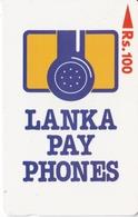 (16SRLA) TARJETA DE SRY LANKA DE Rs.100 LOGO EMPRESA - Sri Lanka (Ceylon)
