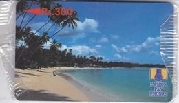(5SRLB) TARJETA DE SRY LANKA DE Rs.300 DE UNA PLAYA (NUEVA CON BLISTER) - Sri Lanka (Ceylon)