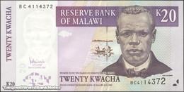 TWN - MALAWI 52c - 20 Kwacha 31.10.2007 Prefix BC UNC - Malawi