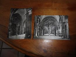 2 Cartes Postales De VEZELAY,Le Grd Portail De La Basilique De La Madeleine(Yvon) ,et Eglise Abbatiale Sainte Madeleine. - Vezelay