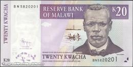 TWN - MALAWI 52d - 20 Kwacha 31.10.2009 Prefix BN UNC - Malawi