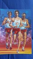 CPM COURSE CROSSING MARATHON NEW YORK COUREURS DE FOND  A F C F DESSIN MALINOWSKI - Athlétisme