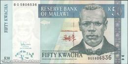 TWN - MALAWI 53c - 50 Kwacha 31.10.2007 Prefix BG UNC - Malawi