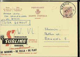 Publibel Obl. N° 2108  ( SUBLIMAT Agence) Obl. Wervik D D  08/03/66 - Entiers Postaux