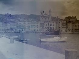Lot 18 Négatifs Sur Plaque De Verre Bastia 9 Cm X 6,5 Cm - Glasdias