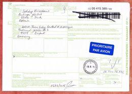 Paketkarte, Tartu Kandekeskus Nach Erfurt 2015 (93096) - Estonie