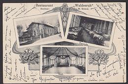Jüdendorf Novosedlice Weißkirchlitz Gruss Aus.. Restaurant Waldesruh  Ak Mit 3 Abb. Um 1904 - Sudeten