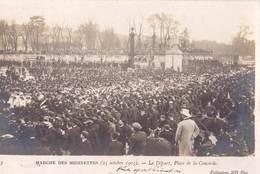 Carte Photo   Paris (75)  Marche Des Midinettes Oct 1903 Départ Place De La Concorde  Ed ND N°3 - Lieux