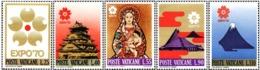 1970 - VATICANO - EXPO OSAKA - 479/83 - NUOVI MNH - Vatican