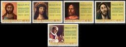 1970 - VATICANO - SACERDOZIO PAOLO VI - 487/91 - NUOVI MNH - Vatican