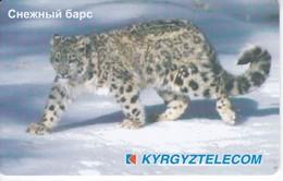 TARJETA DE KIRGUISTAN DE 100 UNITS DE UNA PANTERA DE LAS NIEVES (PHANTER) - Kirgizië