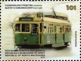 Republic Of North Macedonia / 2020 / Transportation Means / Tram / Railway - Macedonië