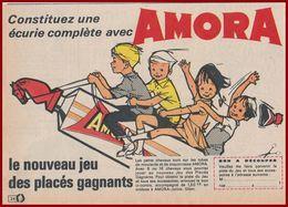 Amora. Collectionnez Les Petits Chevaux: Bouchon De Tube Moutarde Et Mayonnaise. 1964. - Publicités