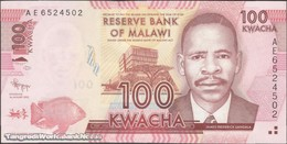 TWN - MALAWI 59a - 100 Kwacha 1.1.2012 Prefix AE UNC - Malawi