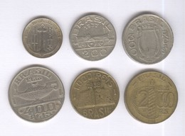 Lot De 6 Monnaies Brésil - Réal 1938 1938 - Brasile