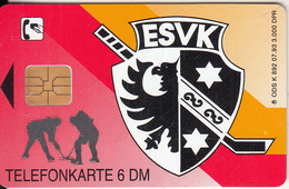 GERMANY - Hockey, ESV Kaufbeuren(K 892), Tirage 3000, 07/93, Mint - K-Series : Série Clients